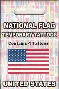 USA Country Flag Tattoos.